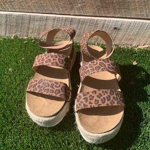 Platform Sandals Cheetah Print